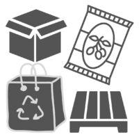 Productos de empaque, cartón, etiqueta, tarimas, películas.
